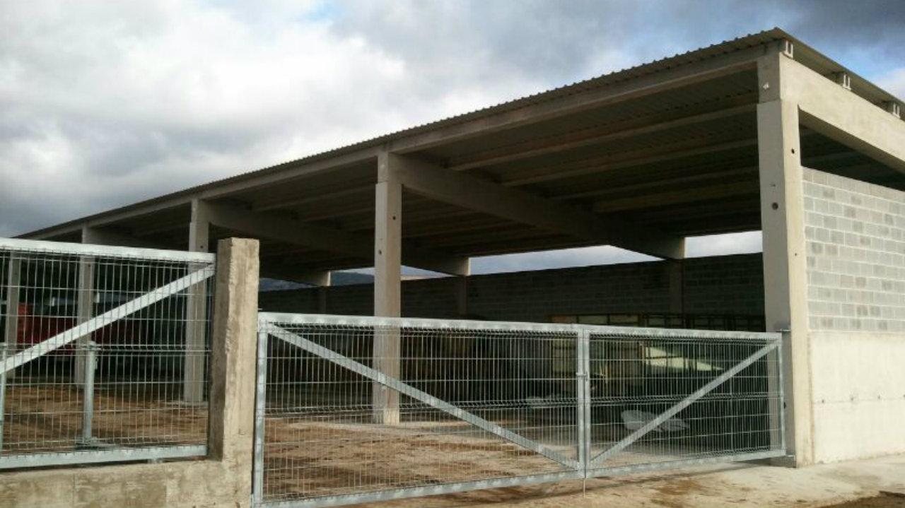 Construcción de cobertizo en Álava